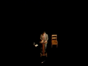 A man alone.
