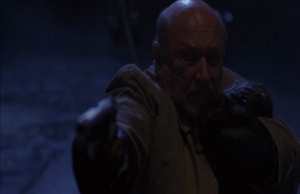 Dr. Loomis attempts to a mercy-killing...of this series.