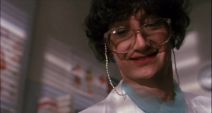 Robert Englund. With a fake nose. In drag. This is better Nightmare Fuel than anything in the last few movies.