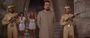 """It's not enough to have the henchmen anymore, Mr. Bond. It's the 70s! Blofeld set the trend with his 'allergy institute'"""