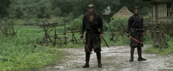 "I'd say, ""You shall not pass""...but a character in this movie actually says ""You shall not pass!"" to someone, so there goes that joke. You win this round, 13 Assassins. But we shall meet again in the next snarky caption box."