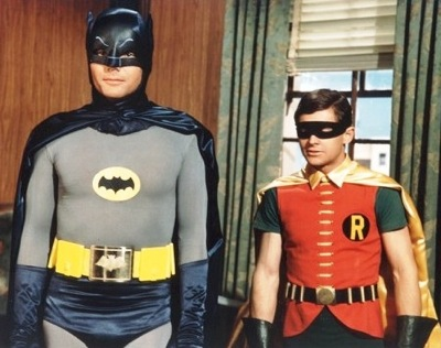 Batman and Robin as duly deputized agents of upstanding (non-evil) law & order.