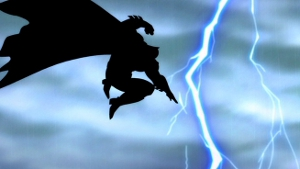 Shazam...! Oh, no...wait...Batson doesn't show up until The Dark Knight Strikes Again. My bad.