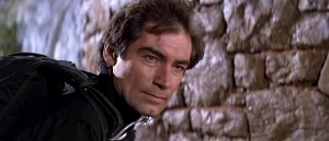 "I might as well subtitle this ""The Many Faces of Timothy Dalton."""