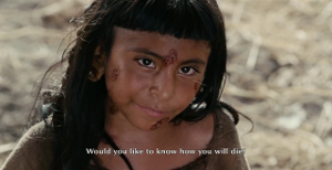 "When a creepy, leper child asks, ""Would you like to know how you'll die?"" you say, ""NO!"""